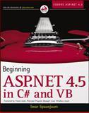 Beginning ASP. NET 4. 5: in C# and VB, Imar Spaanjaars, 1118311809