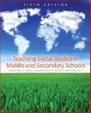 Teaching Social Studies in Middle and Secondary Schools, Martorella, Peter H. and Beal, Candy, 0131591819