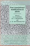 Post-Translational Modifications in Plants 9780521411813