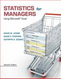 Statistics for Managers Using Microsoft Excel, Levine, David M. and Stephan, David F., 0133061817