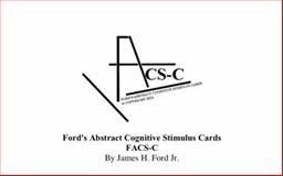 Ford's Abstract Cognitive Stimulus Cards : Facs-C, Ford, James H., Jr., 0989461823