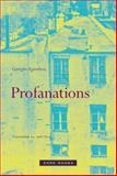 Profanations, Agamben, Giorgio, 189095182X