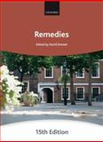 Remedies, City Law School Staff, 0199591830