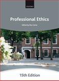 Professional Ethics, Carne, Ros, 0199591857