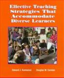 Effective Teaching Strategies That Accommodate, Kameenui, Edward J. and Carnine, Douglas, 0133821854