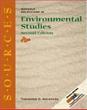 Sources : Notable Selections in Environmental Studies, Goldfarb, Theodore D., 0073031860