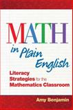 Math in Plain English, Amy Benjamin, 1596671866