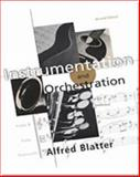 Instrumentation and Orchestration, Blatter, Alfred, 0534251870