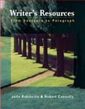 Writer's Resources : From Sentence to Paragraph, Robitaille, Julie and Connelly, Robert, 1413001874