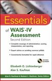 Essentials of WAIS-IV Assessment, Lichtenberger, Elizabeth O. and Kaufman, Alan S., 1118271882