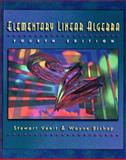 Elementary Linear Algebra, Venit, Stewart M. and Bishop, Wayne, 0534951902