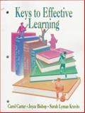 Keys to Effective Learning, Carter, Carol and Kravits, Sarah, 0136321917