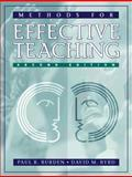 Methods for Effective Teaching, Burden and Byrd, 0205291937