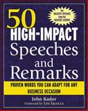 50 High-Impact Speeches and Remarks, Kador, John, 0071421947