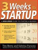 3 Weeks to Startup, Berry, Tim and Parsons, Sabrina, 1599181967
