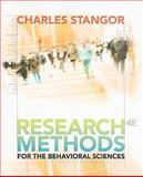 Research Methods for the Behavioral Sciences, Stangor, Charles, 0840031971