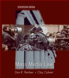 Mass Media Law, Pember, Don and Calvert, Clay, 0073511978