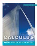 Calculus : Single Variable, Blank, Brian E. and Krantz, Steven G., 0470601981