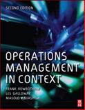 Operations Management in Context, Rowbotham, Frank and Azhashemi, Masoud, 0750681985