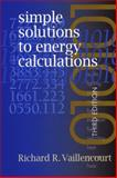 Simple Solutions to Energy Calculations, Vaillencourt, Richard, 0130652008