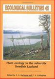 Plant Ecology in the Subarctic Swedish Lapland, , 8716152018