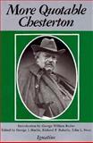 More Quotable Chesterton, G. K. Chesterton, 0898702011