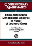 Finite and Infinite Dimensional Analysis in Honor of Leonard Gross, Analysis on Infinite Dimensional Spaces, Ambar Sengupta, 0821832026