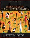 Essentials of Human Communication (with Study Card), DeVito, Joseph A., 0205472036