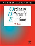 Ordinary Differential Equations, Cox, William, 0340632038