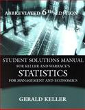 Statistics for Management and Economics, Keller, Gerald and Warrack, Brian, 0534392032