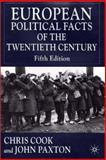 European Political Facts of the Twentieth Century, Cook, Chris, 0333792033