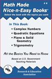 Complex Numbers Quadratic Equations, Plane and Solid Geometry, Trigonometry, Research & Education Association Editors, 0878912037