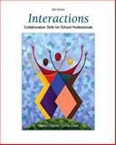 Interactions : Collaboration Skills for School Professionals, Friend, Marilyn and Cook, Lynne, 0137152051
