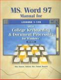 MS Word 97 Manual for Gregg College Keyboarding and Document Processing for Windows, Scot Ober and Robert N. Hanson, 0028042069