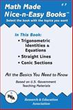 Trigonometric Identities and Equations, Straight Lines, Conic Sections, Research & Education Association Editors, 0878912061