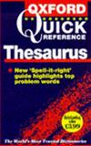 The Oxford Quick Reference Thesaurus, Alan Spooner, 0198602081