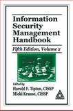 Information Security Management Handbook, Tipton, Harold F. and Krause, Micki, 0849332109