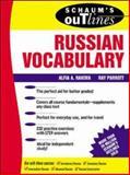 Schaum's Outline of Russian Vocabulary, Parrott, Ray J., Jr. and Rakova, Alfia A., 0070382115