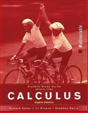 Calculus, Student Study Guide: MV : Multivariable, Anton, Howard and Bivens, Irl C., 0471672130