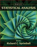 Basic Statistical Analysis, Sprinthall, Richard C., 0205052177