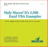 Holy Macro! It's 2,500 Excel VBA Examples, Bill Jelen and Tom Urtis, 1932802185