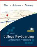 Gregg College Keyboarding and Document Processing, Ober, Scot and Johnson, Jack E., 0073372196