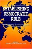 Establishing Democratic Rule, Ilpyong J. Kim, 0887022200