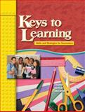 Keys to Learning : Skills and Strategies for Newcomers, Chamot, Anna Uhl and Anstrom, Kristina, 0131892215