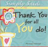 Thank You for All You Do!, Marianne Richmond, 1934082228