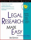 Legal Research Made Easy, Suzan Herskowitz, 1572482230