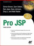Pro JSP, Brown, Simon and Dalton, Samuel, 1590592255