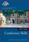 Conference Skills, 2007-2008, Inns of Court Staff, 0199212252