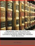 Ökonomie und Technik des Gedächtnisses, Ernst Meumann, 1147312265