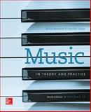 Music in Theory and Practive Vol II with Workbook, Benward, Bruce and Saker, Marilyn, 1259302288